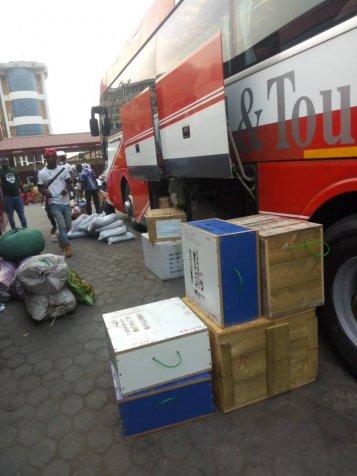 Transport veilig in Tamale gearriveerd